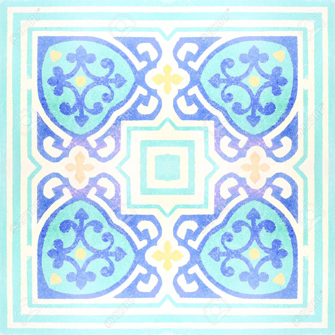 Decorative Ceramic Tiles Patterns Texture Background In The Park