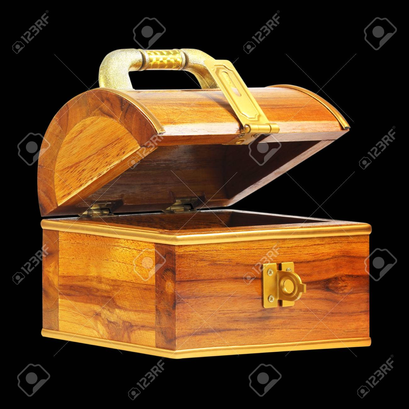 treasure chest money box with a coin slot isolated on white background Stock Photo - 55953581 & Treasure Chest Money Box With A Coin Slot Isolated On White ... Aboutintivar.Com