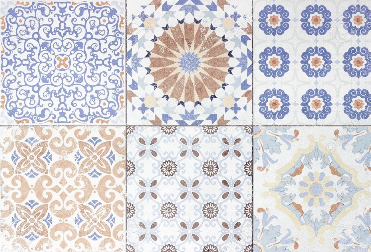 Banque dimages beautiful old ceramic tile patterns in the park public