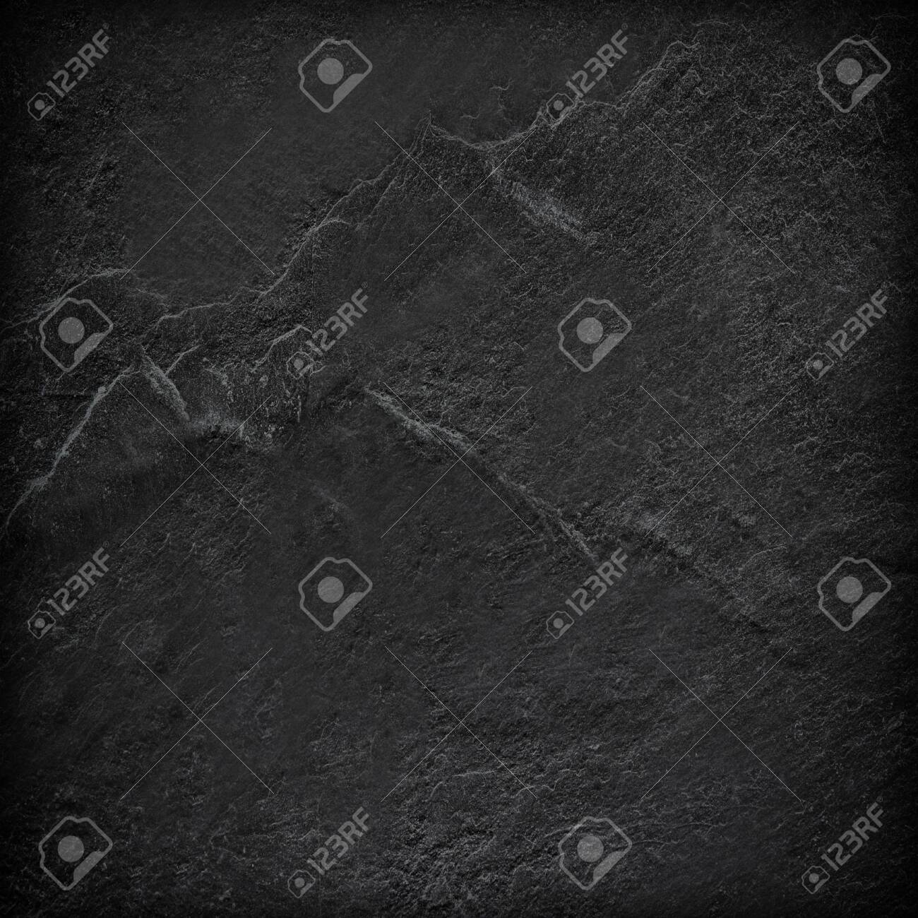 Dark grey black slate background or texture. - 126946634