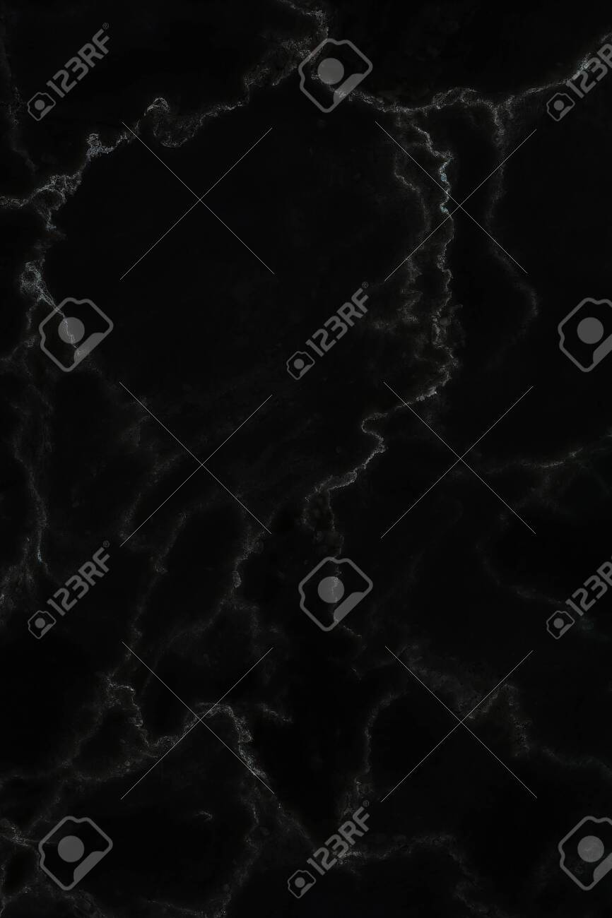 Black marble natural pattern for background, abstract natural marble black and white - 128945179