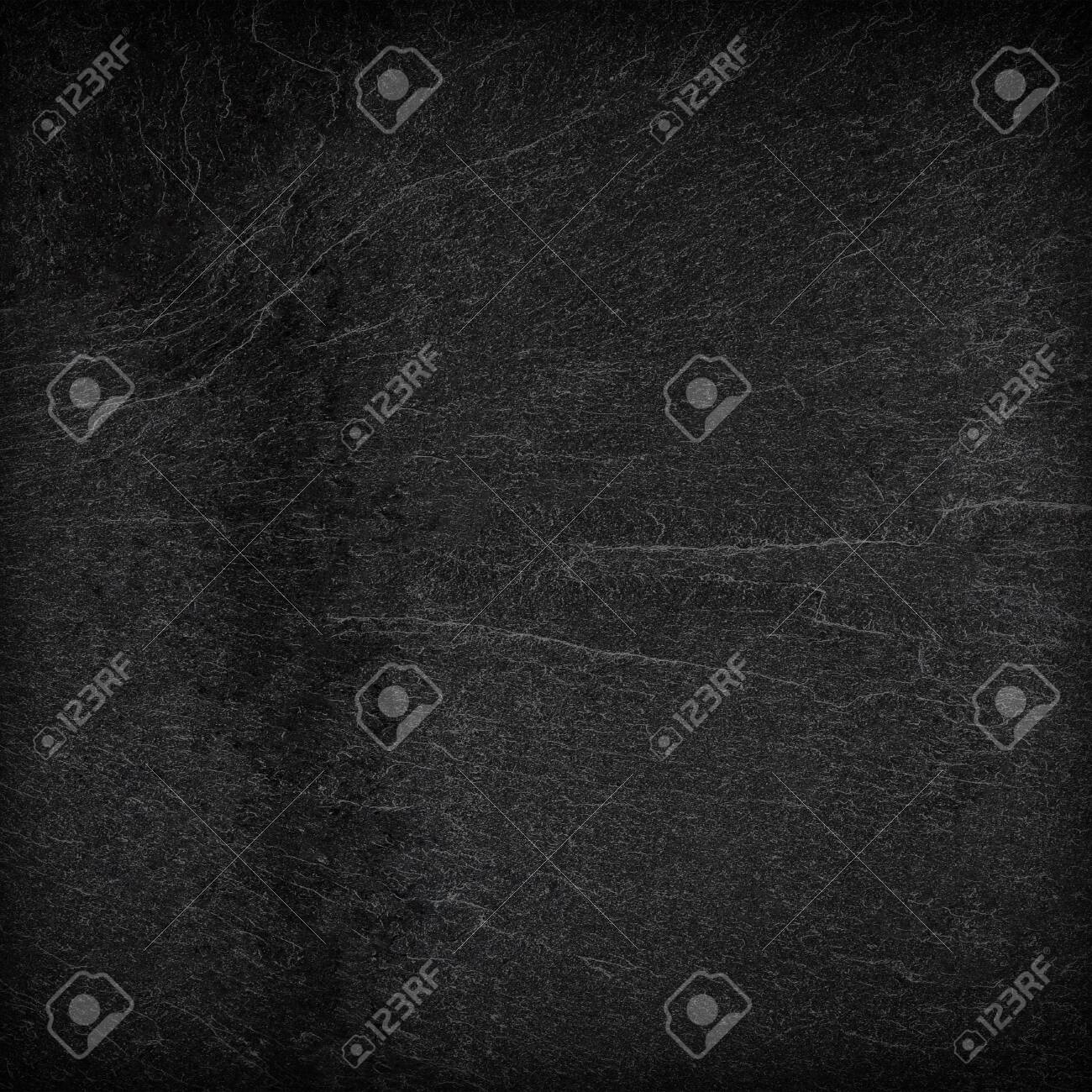 Dark grey black slate background or texture. - 135708983