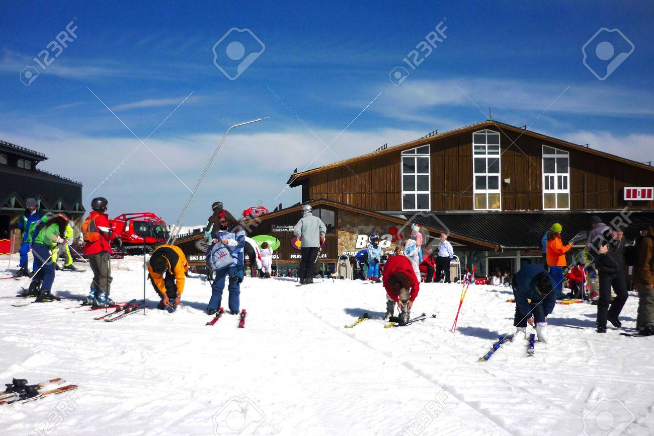 sierra nevada ski granada spain stock photo, picture and royalty