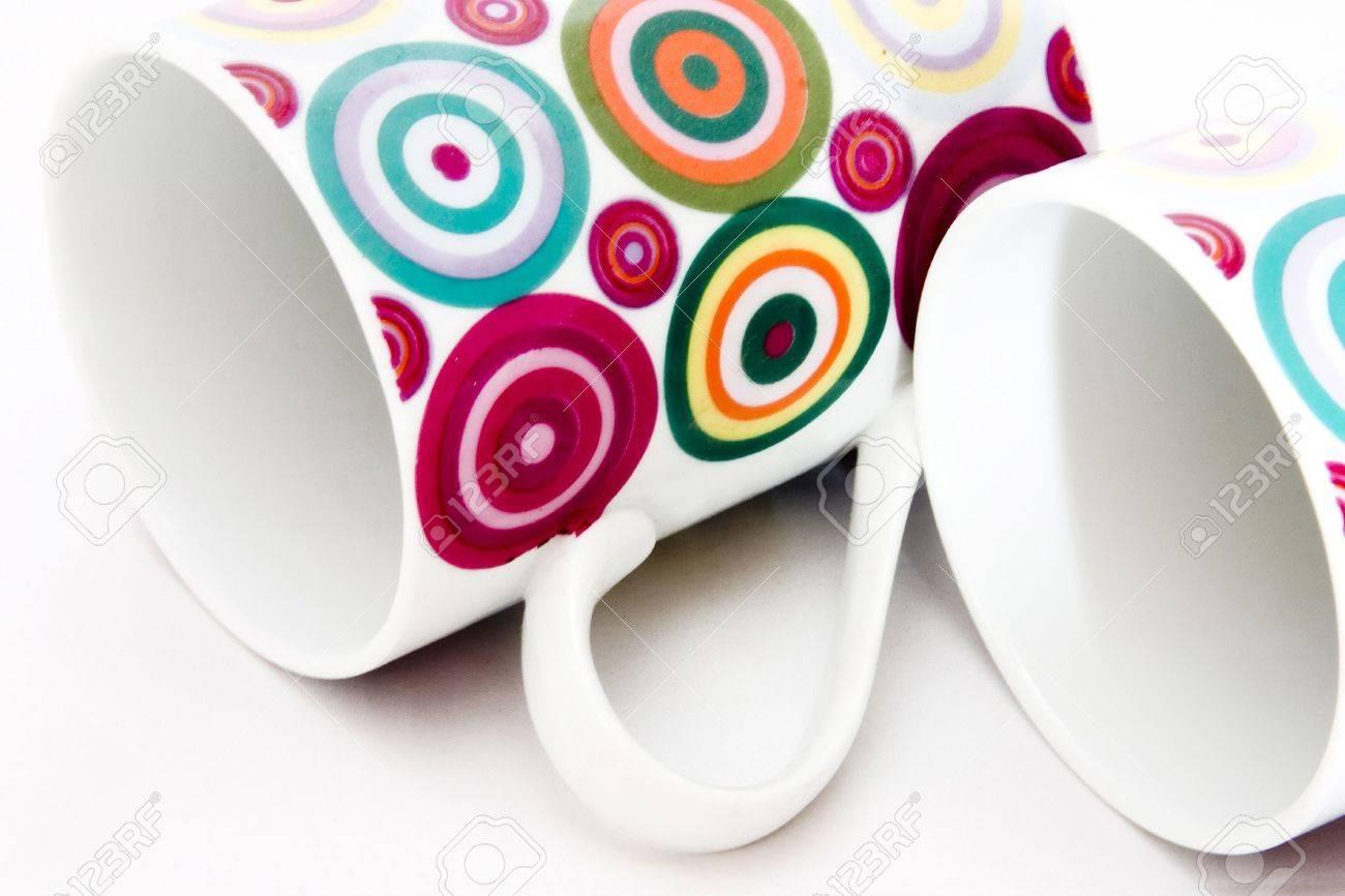 colorful ceramic breakable mugs stock photo 630054 - Colorful Mugs