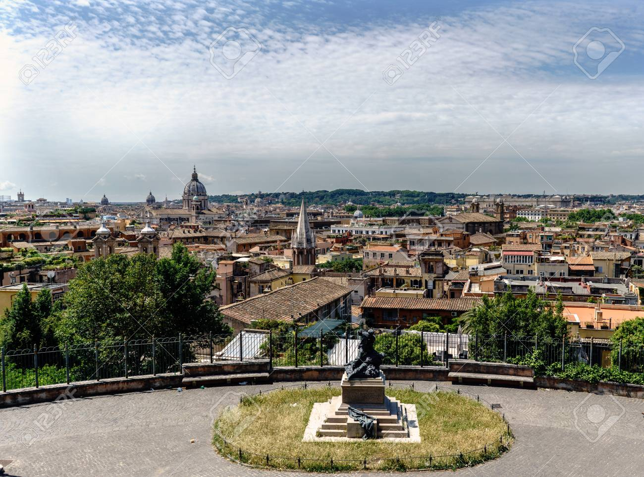 Panoramic View Of Rome From The Terrace Called