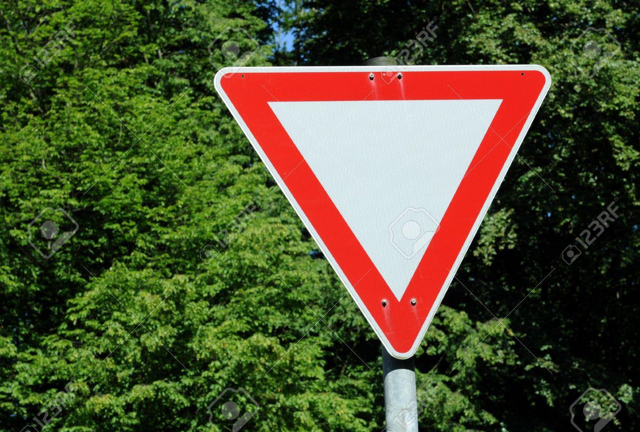German traffic sign No. 205 - give way Stock Photo - 5155701