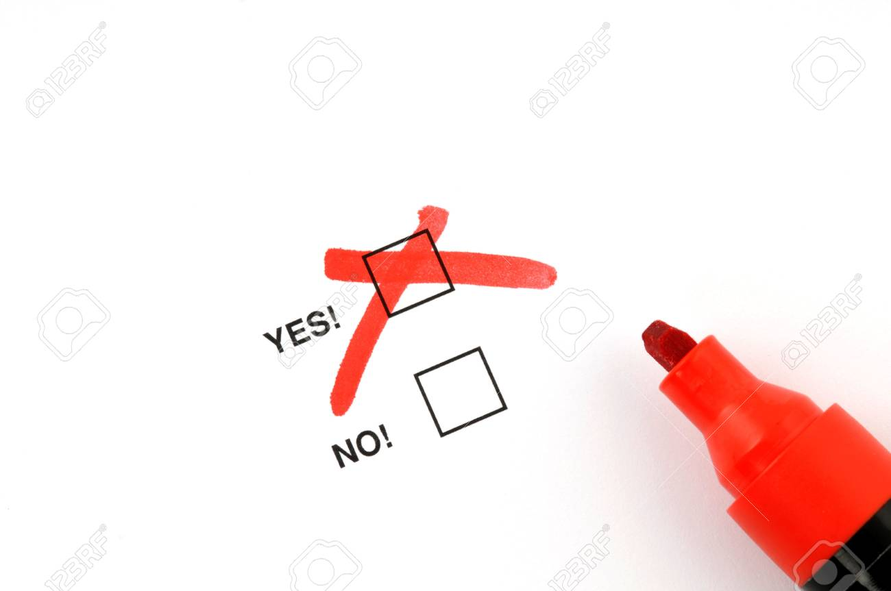 Yes or no Stock Photo - 5138421