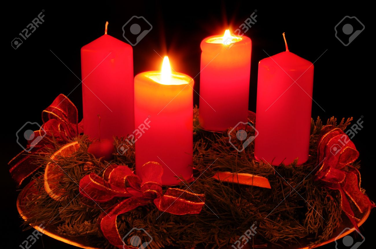 Advent wreath with red candles Stock Photo - 7306813