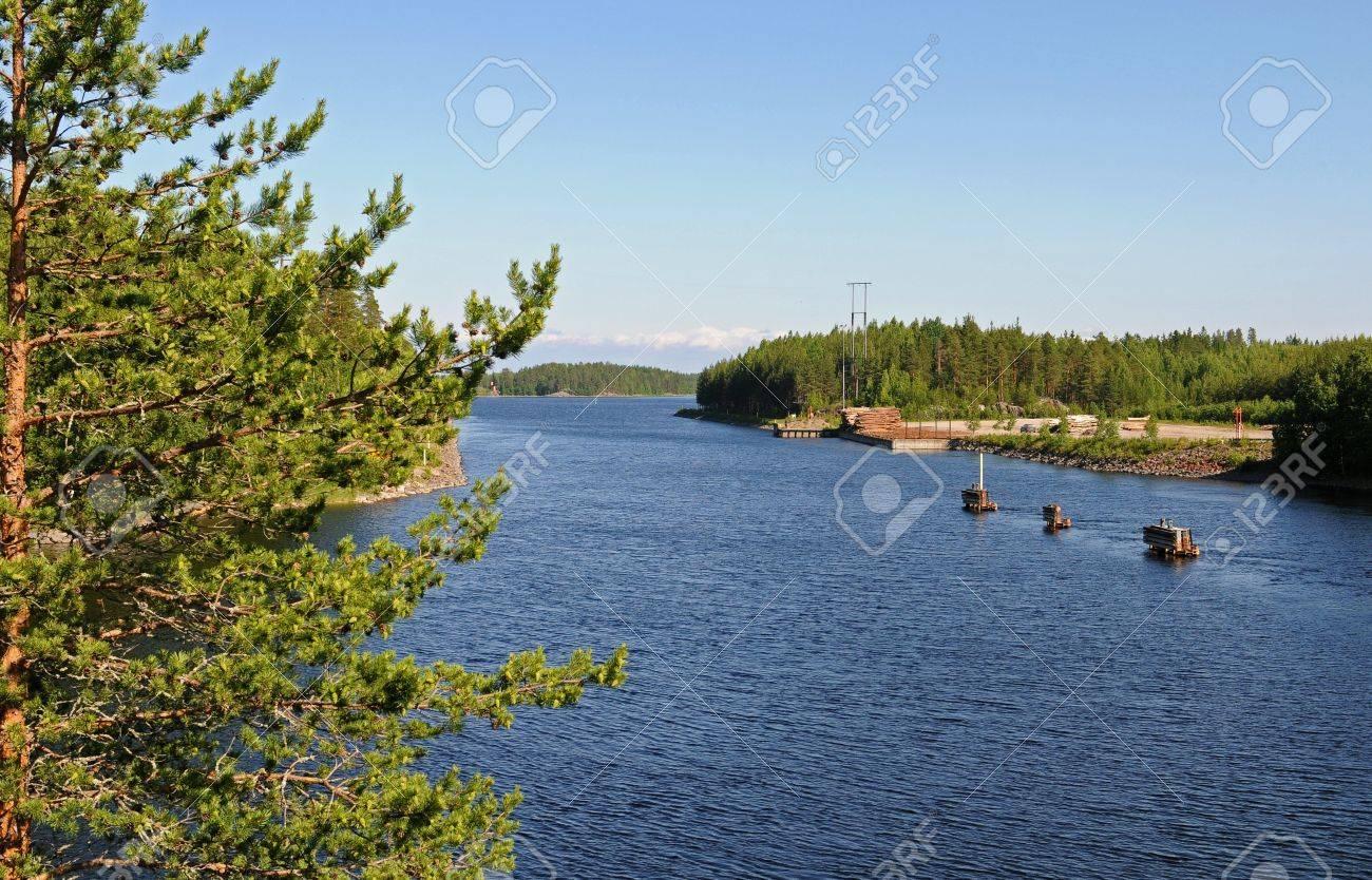 Typical finnish landscape, here near Savonranta Stock Photo - 13361784