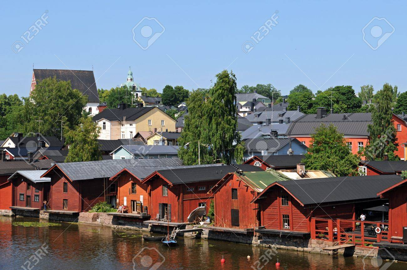 The old wooden houses of Porvoo in Southern Finland are a well known photo-destination Stock Photo - 14515291