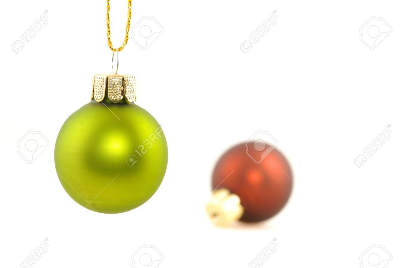 Christbaumkugeln Ornament.Christbaumkugeln Auf Weiem Untergrund Decoration On White