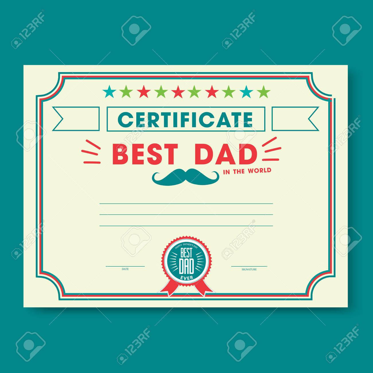 Happy fathers day card vintage retro worlds best dad certificate happy fathers day card vintage retro worlds best dad certificate template stock vector 40870265 yadclub Gallery