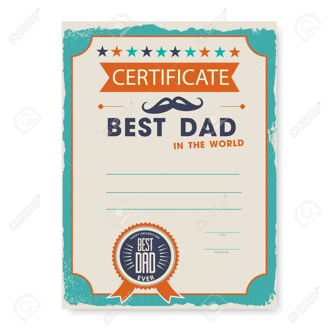 The template of the certificate diploma congratulations for fathers the template of the certificate diploma congratulations for fathers day in vintage retro style stock vector yadclub Gallery