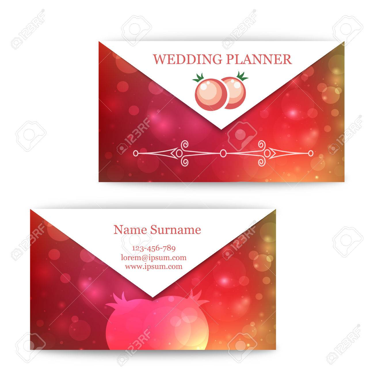 Modle Cartes De Visite Colors Pour Planificateur Mariage