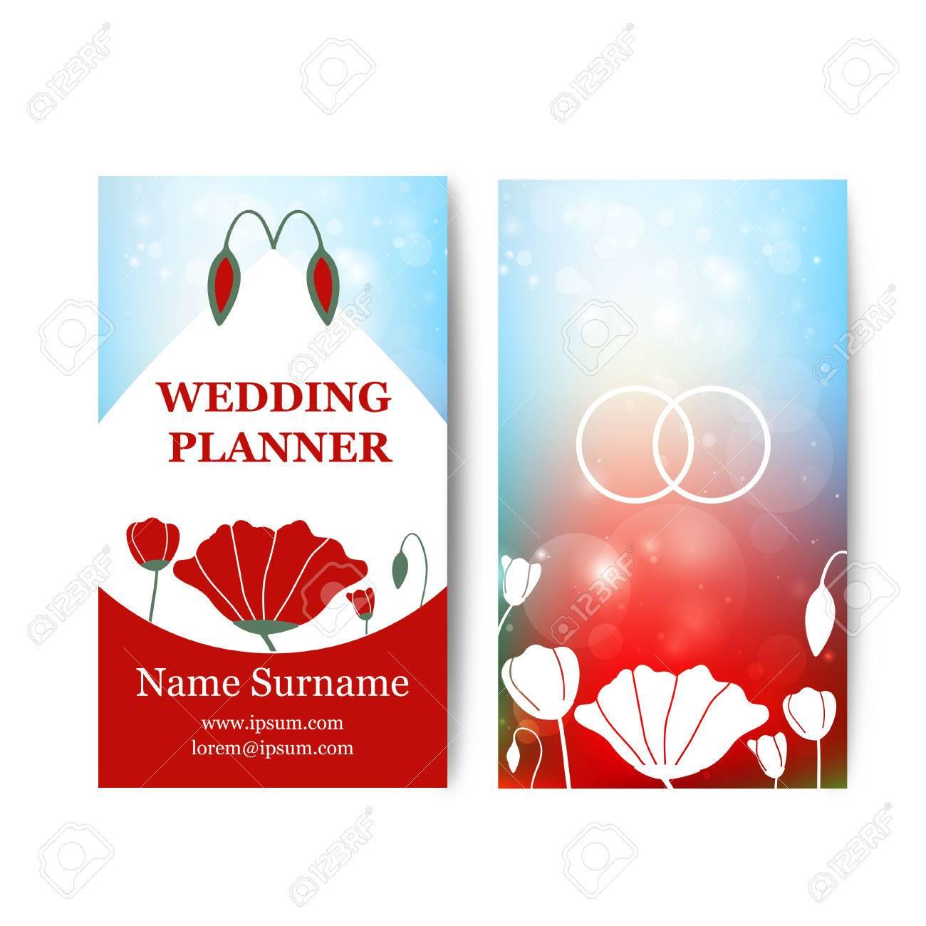 Vector Vintage-Hochzeit Visitenkarten Vorlage Mit Logo Blume ...