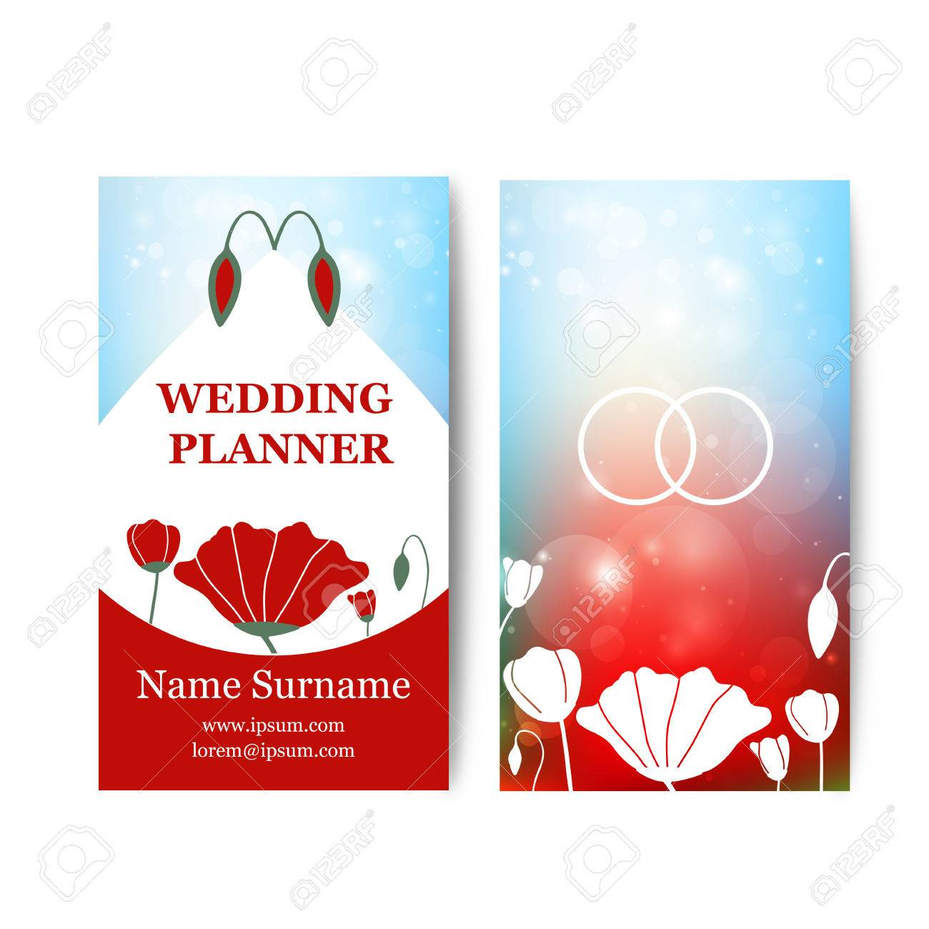wedding business cards templates free