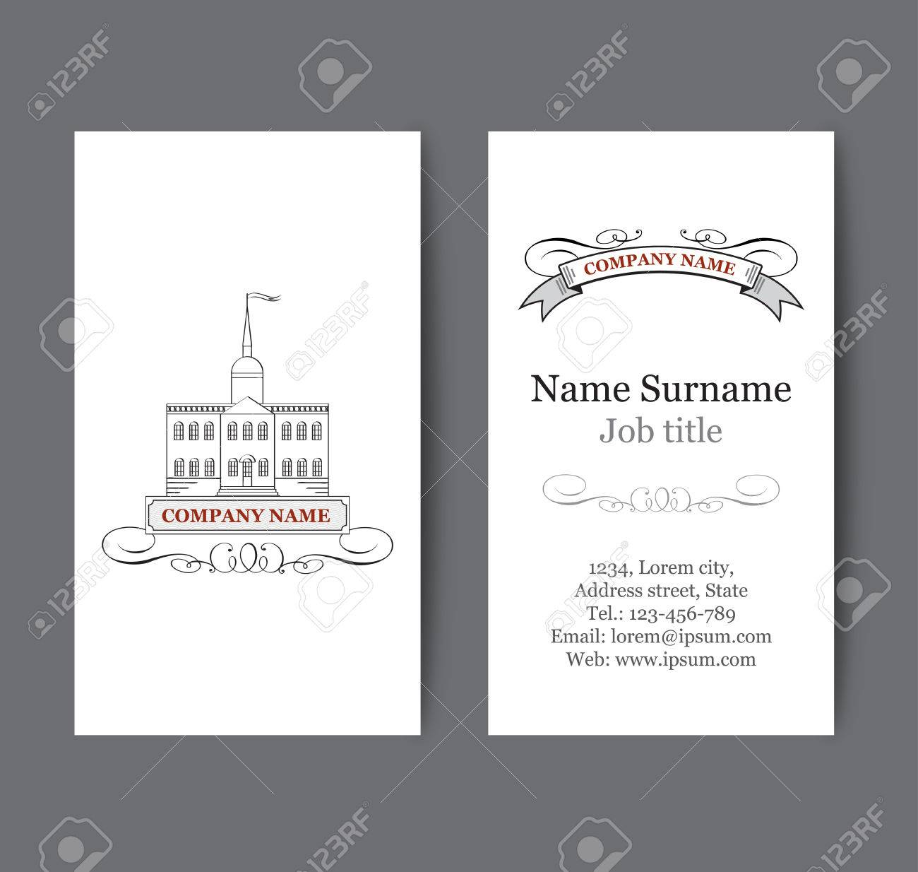 Business Card Template Real Estate. Vertical Business Card For ...
