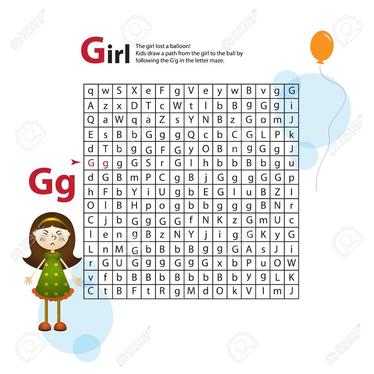 Schreiben Maze G. Dieses Arbeitsblatt Hilft Kindern Und Groß- Und ...