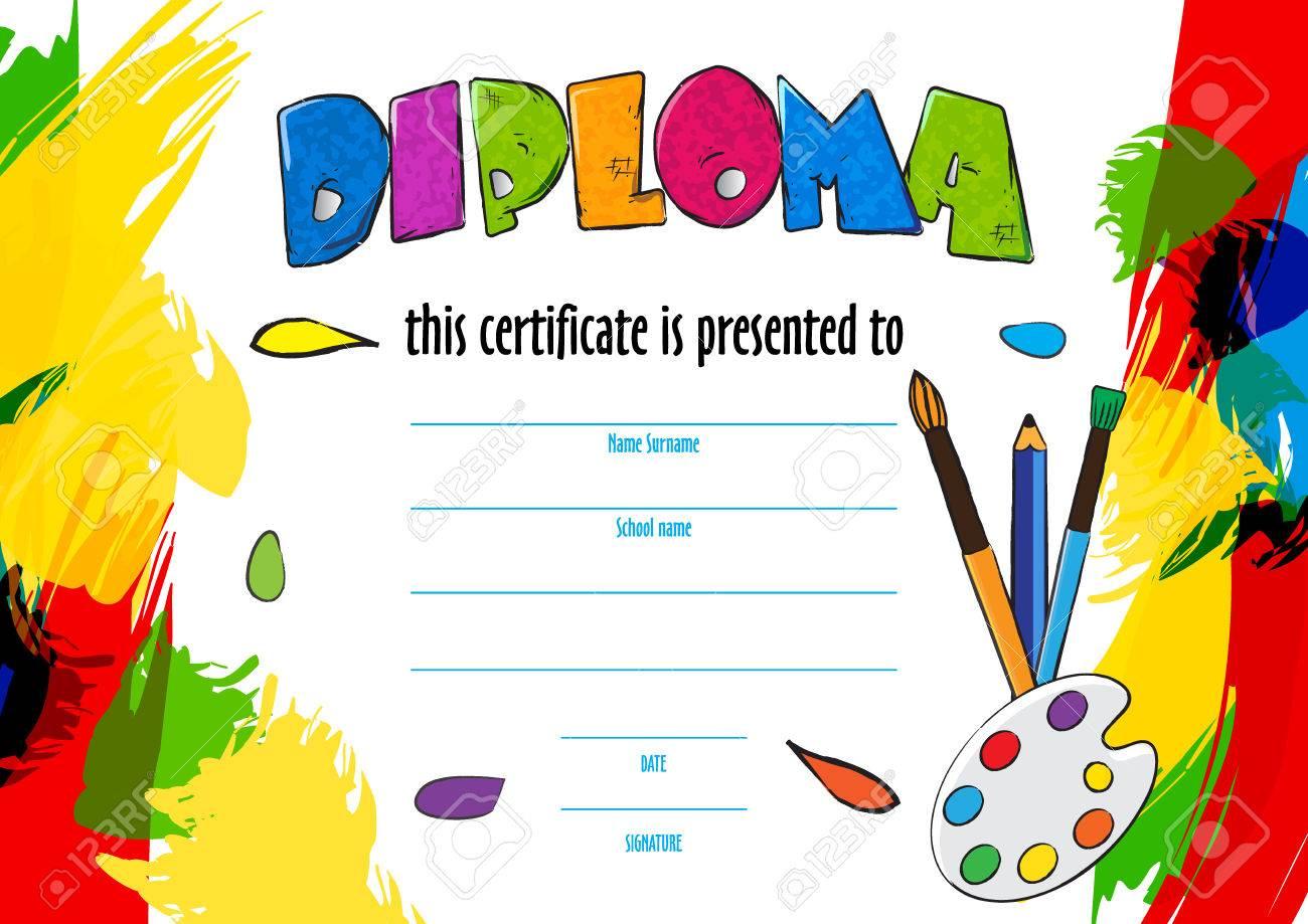 Kinder Diplom-Zertifikat Für Die Lieferung An Einem ...