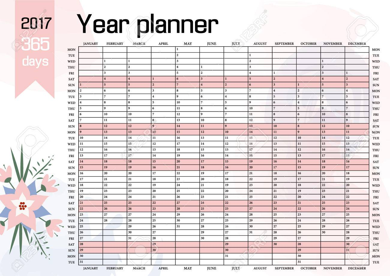 Year Wall Planner. Plan Out Your Whole Year With This 2017 Wall ...