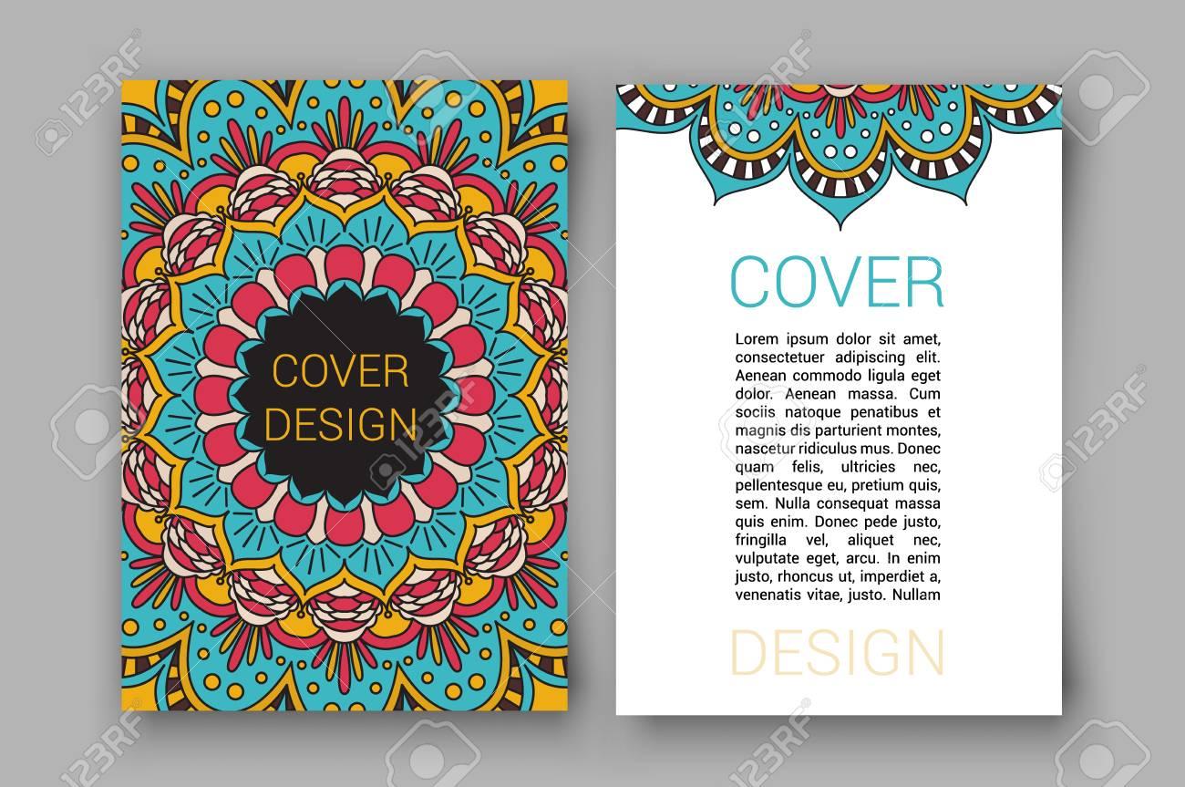 Ramadan Broschüre Seiten Ornament Illustration. Traditionelle ...