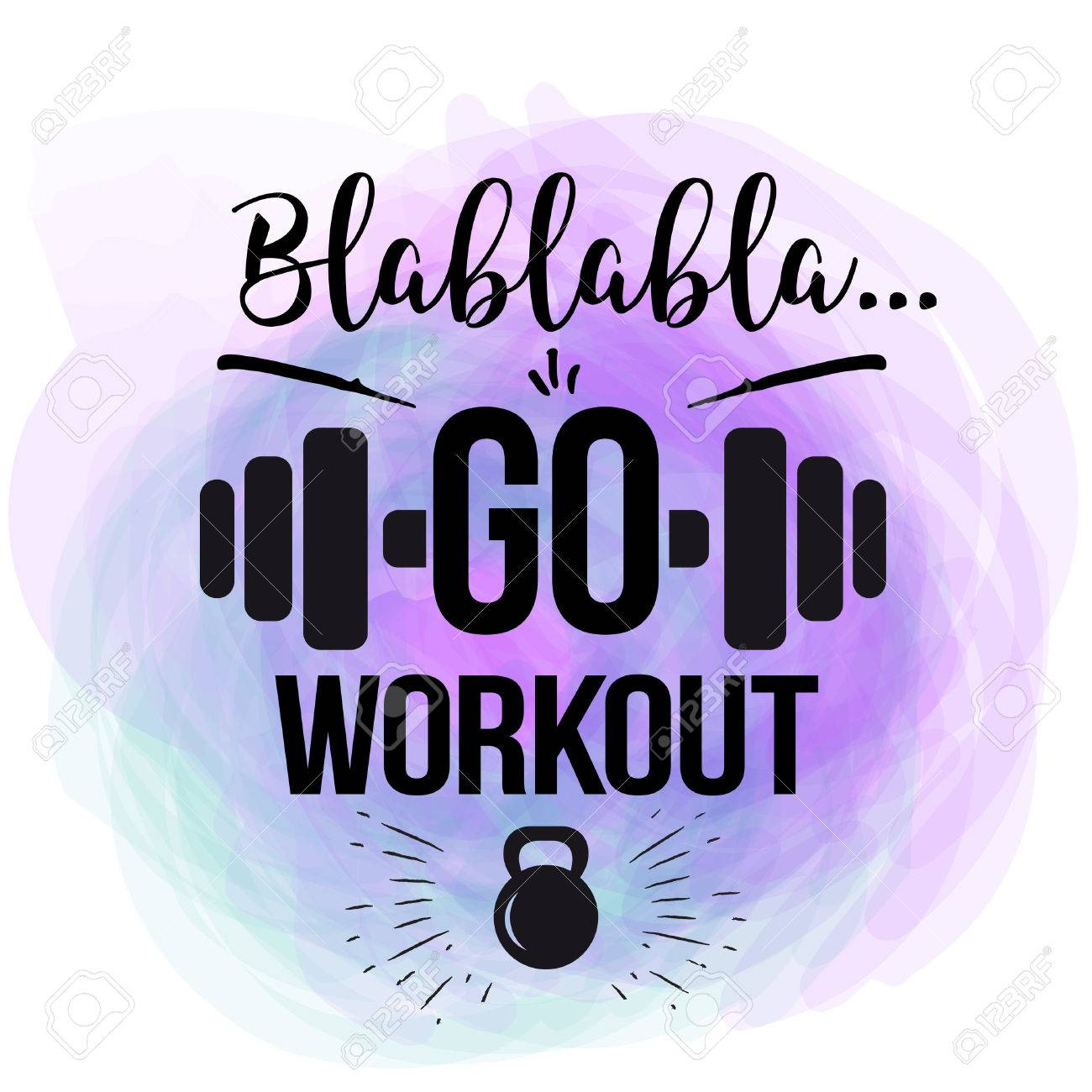 Vector Motivational Quote Go Workout The Design Of The Poster Royalty Free Cliparts Vectors And Stock Illustration Image 64060223
