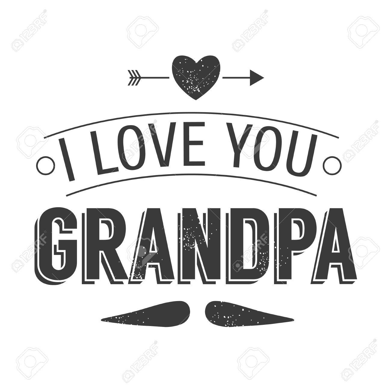 isolated grandparents day quotes on the white background i love