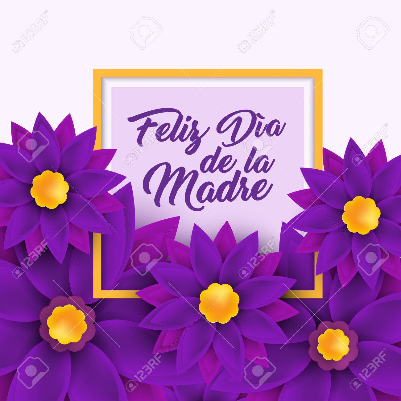 Feliz Dia De La Madre Happy Mother S Day In Spanish Royalty Free Cliparts Vectors And Stock Illustration Image 74581006