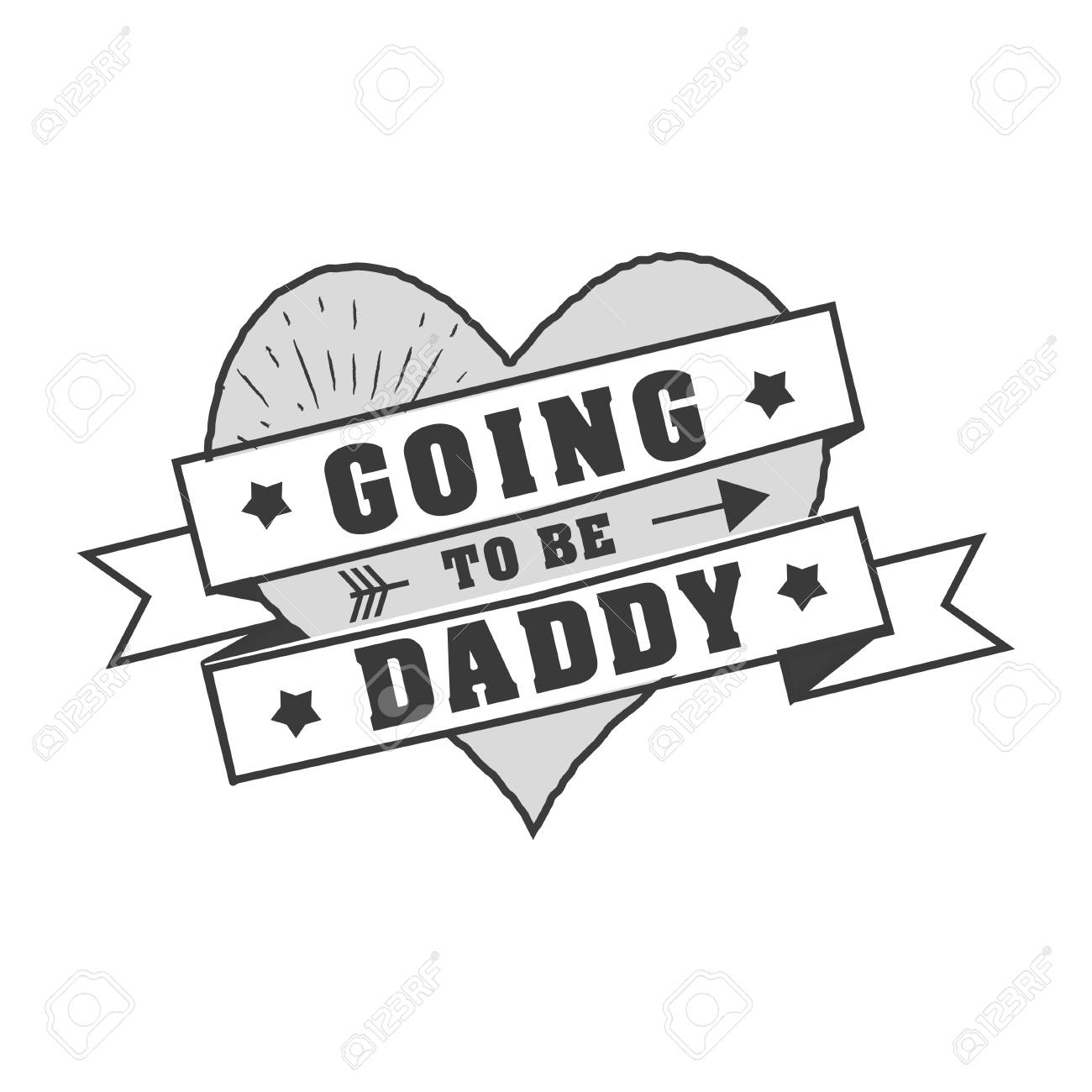 Isolated Happy fathers day quotes on the white background. World..