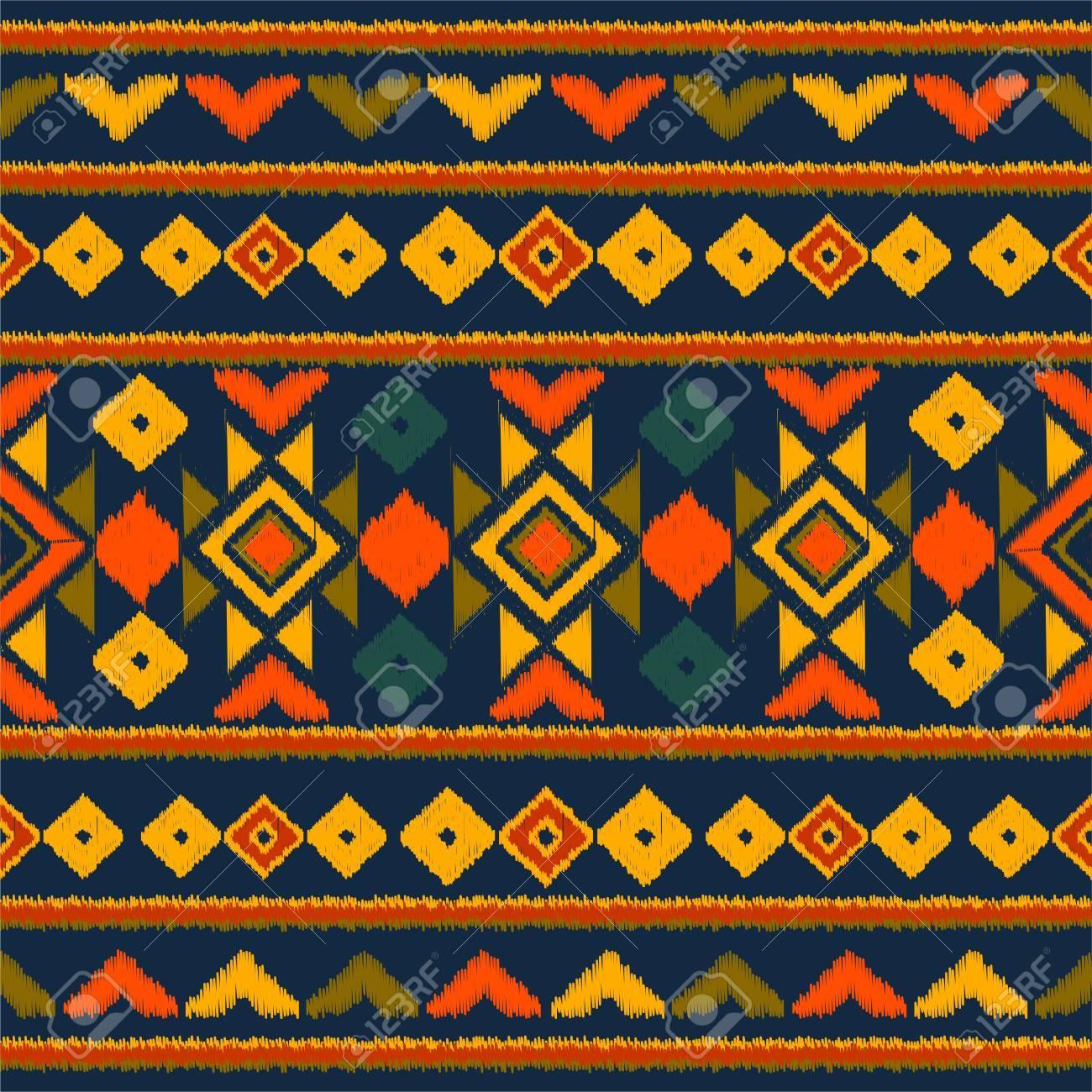 Vector Tribal étnico De Patrones Sin Fisuras. Ideal Para Imprimir ...