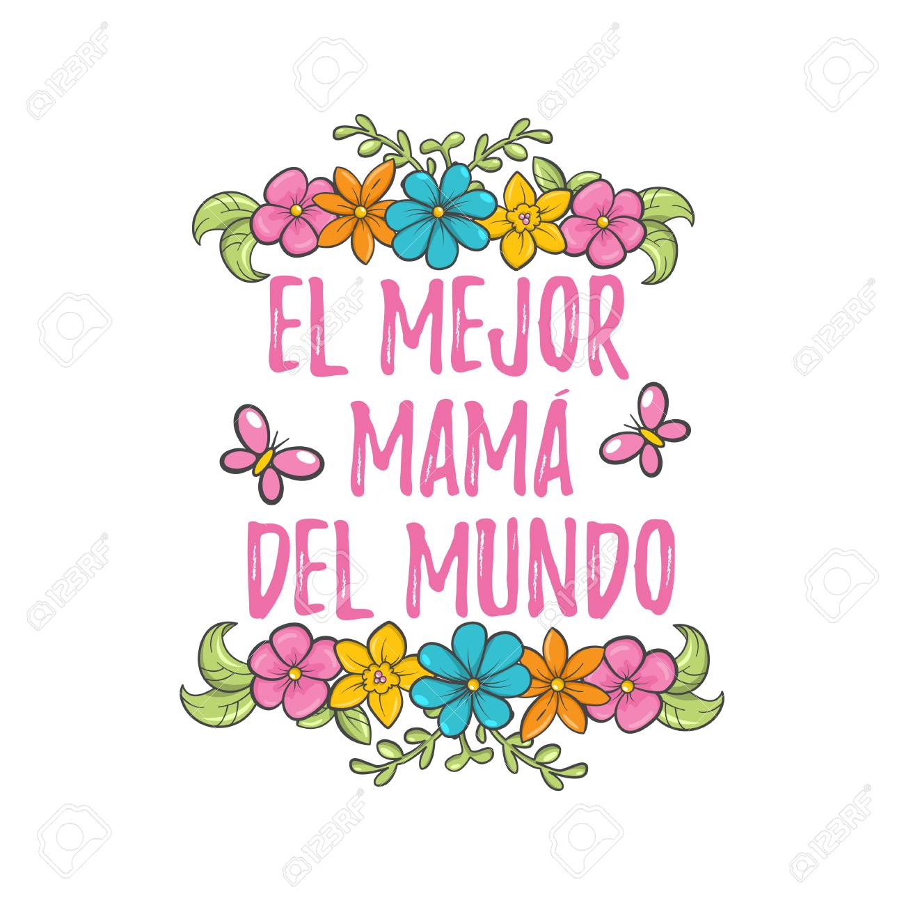 The Best Mom In The World Spanish Mother Day Greeting Sweet