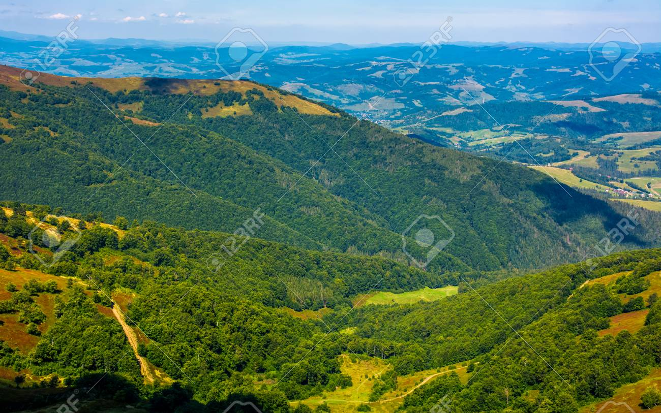 Forests Of The Carpathian Mountains View From The Top Of A Mountain