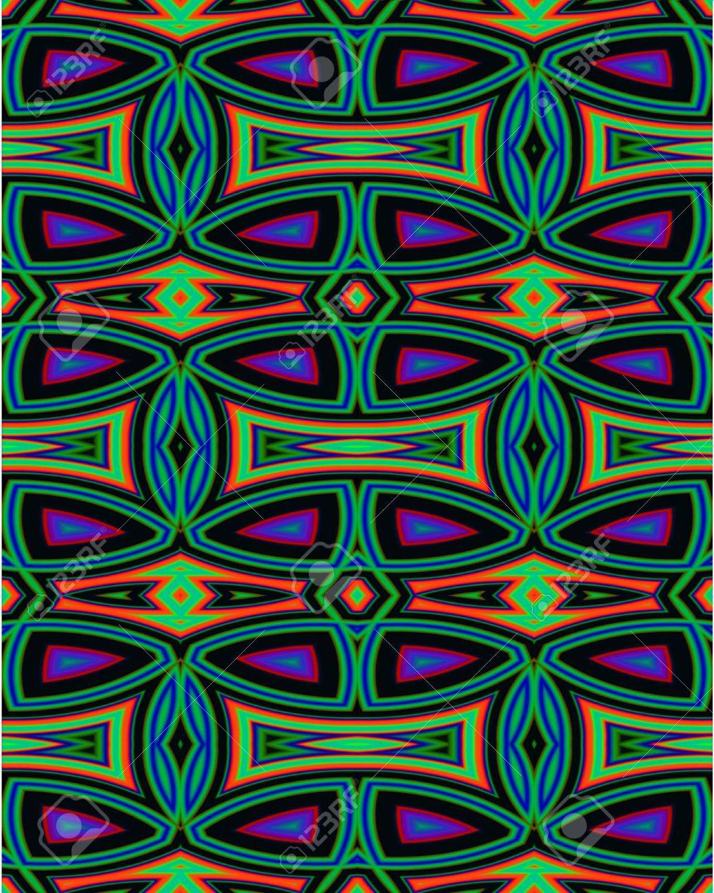ネイティブ アメリカンのインスピレーションを得たデザインで抽象的なフラクタル壁紙 の写真素材 画像素材 Image
