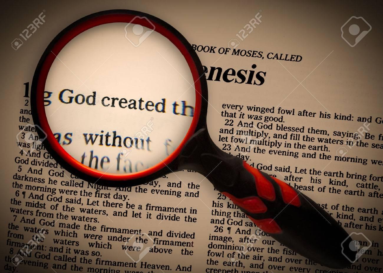 a focus on Genesis 1v1, that God created. - 43011329