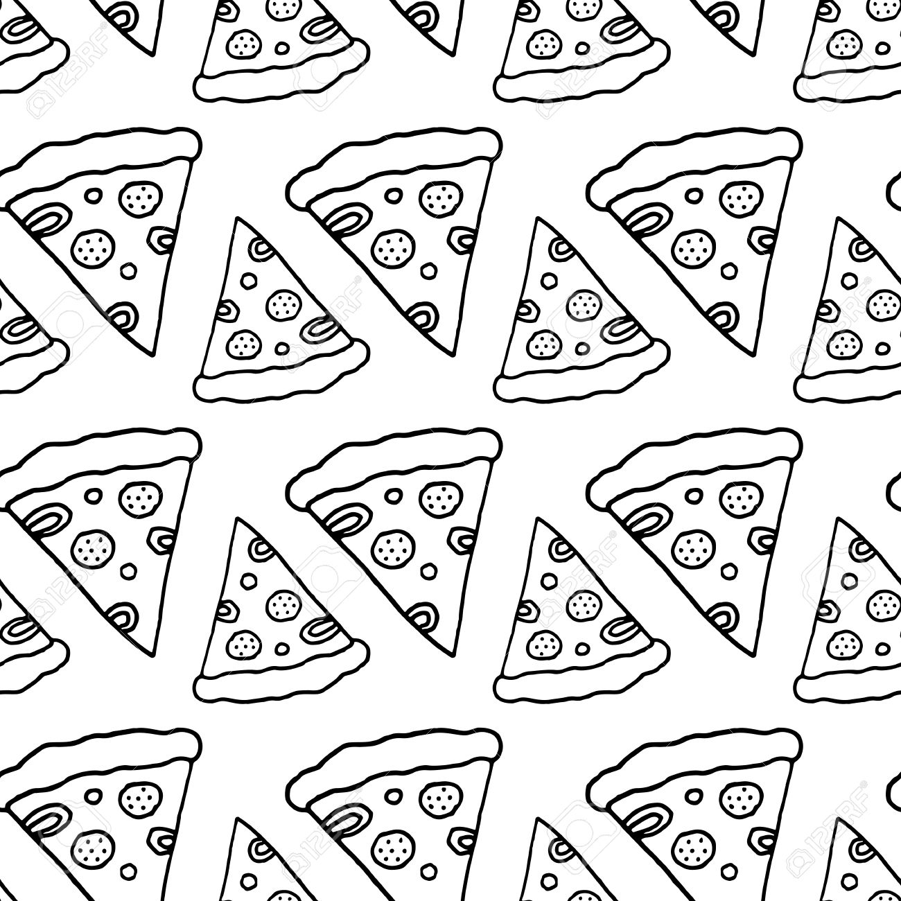 Stoff Pizza Muster Textile Pizza Muster Trendy Pizza Muster Nette