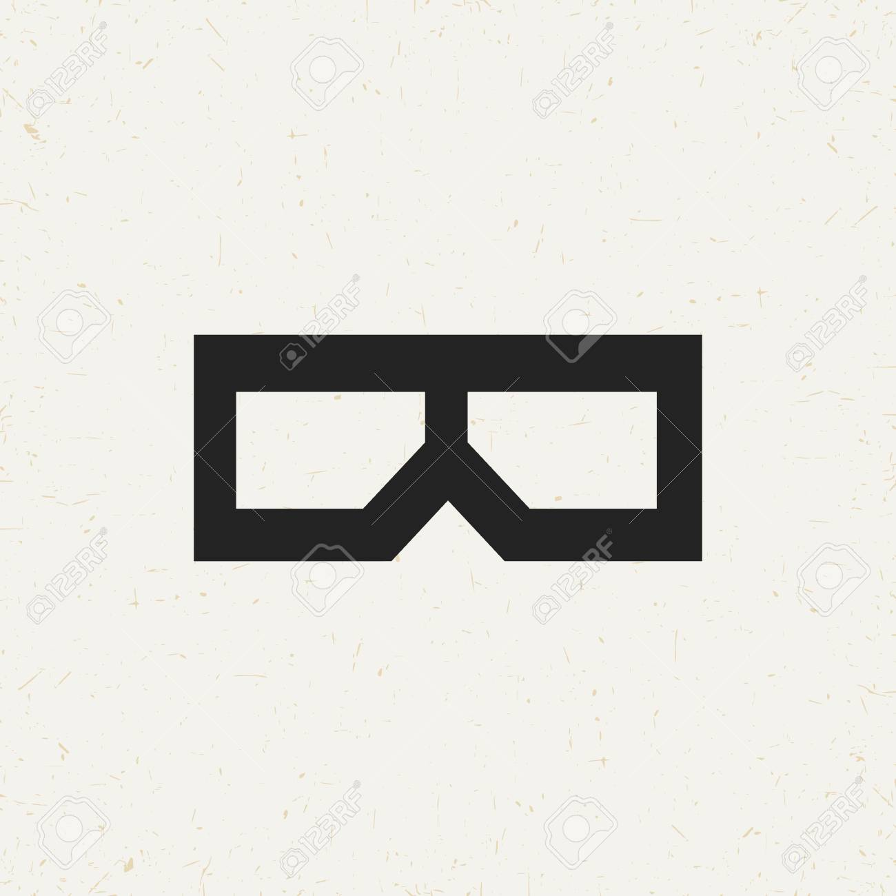 Isolated 3d Glasses Symbol In Vintage Style Royalty Free Cliparts