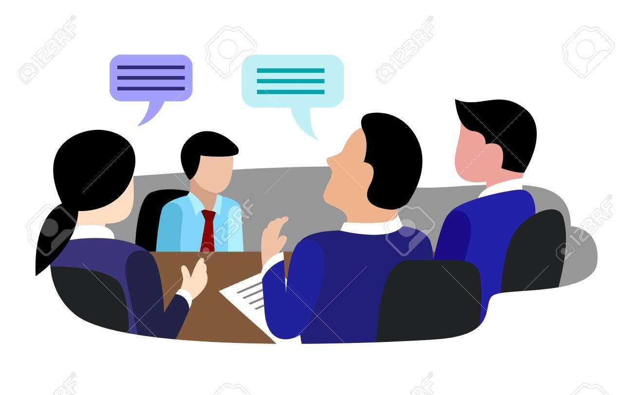 flat recruitment selection employee vector - 151604160