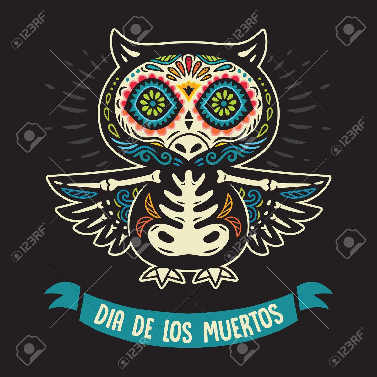 Drucken Von Tag Der Toten, Einem Traditionellen Urlaub In Mexiko ...
