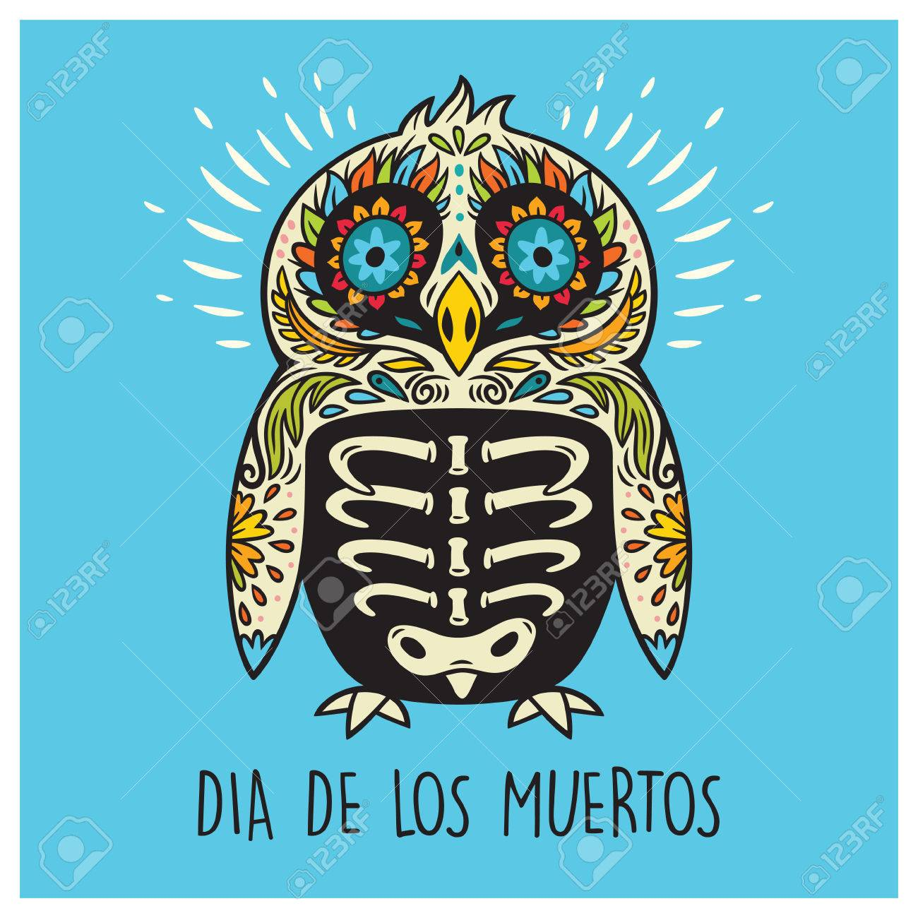 Greeting card with sugar skull penguin in mexican style for holiday greeting card with sugar skull penguin in mexican style for holiday the day of the dead m4hsunfo