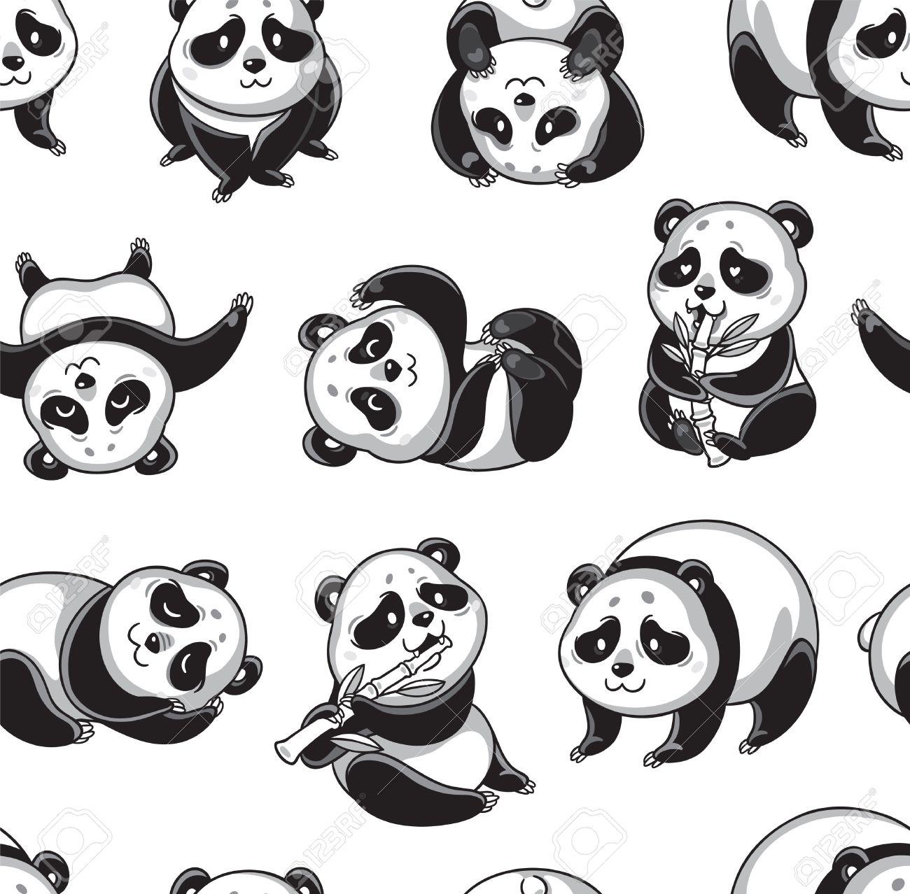 Asombroso Panda Para Colorear Libro Patrón - Dibujos Para Colorear ...