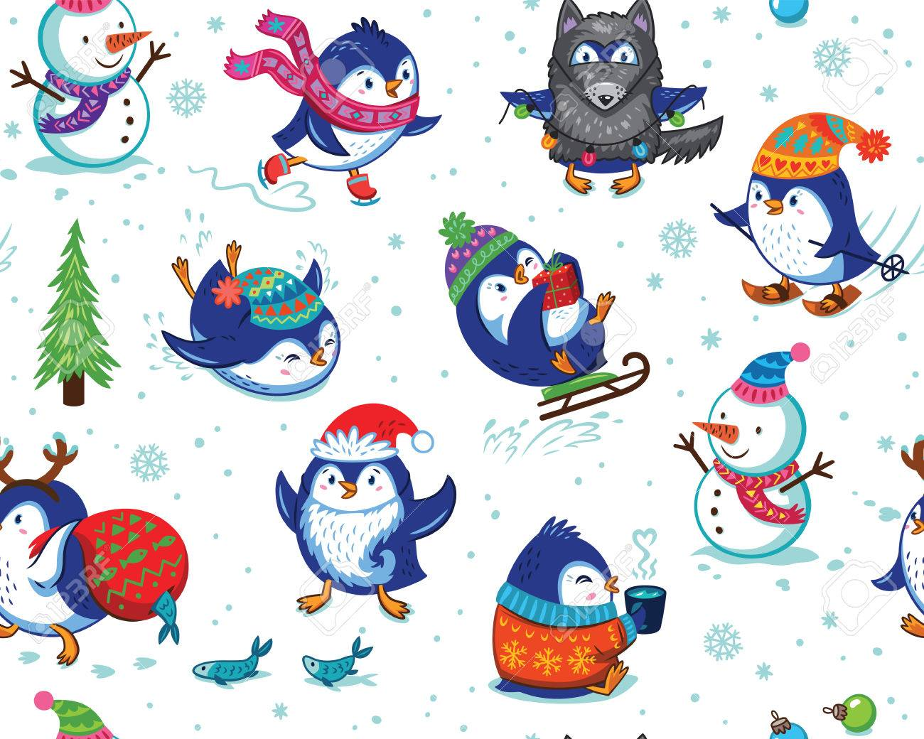 Dibujos para navidad pintados