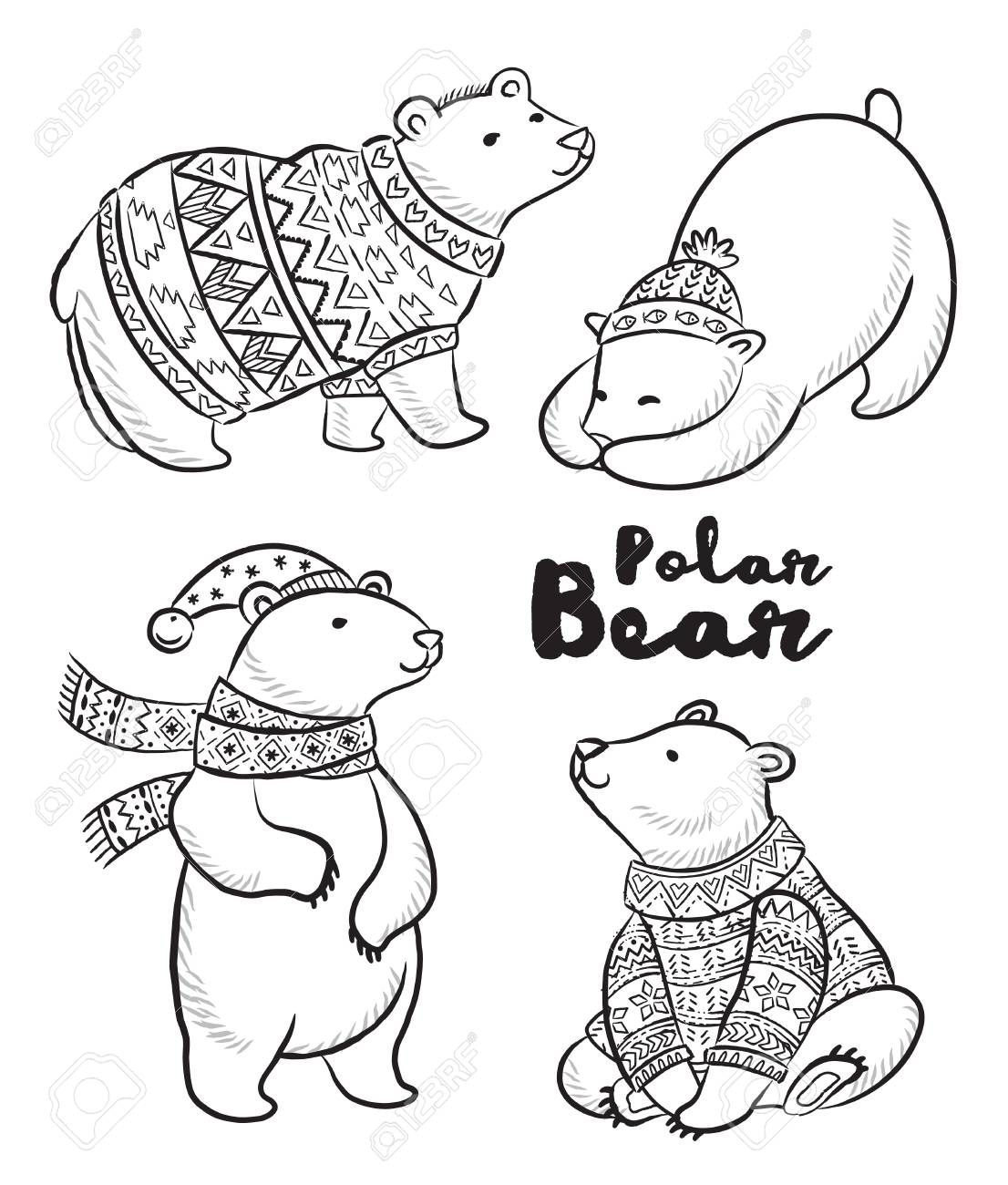 Top 10 Free Printable Polar Bear Coloring Pages Online | 1300x1106