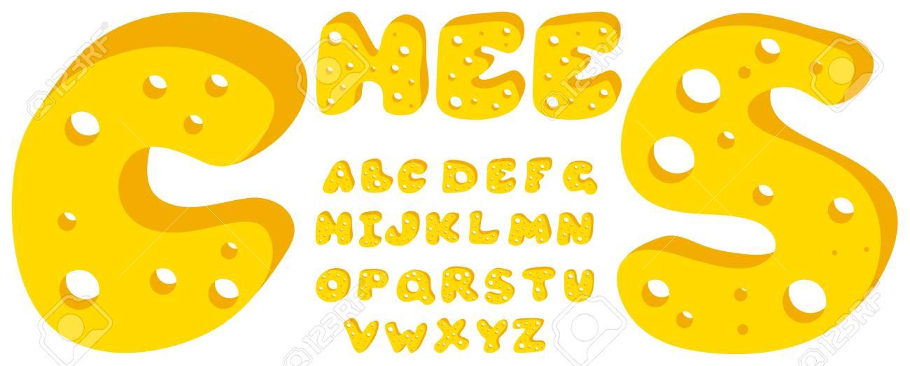 Cheese alphabet Stock Vector - 9857703