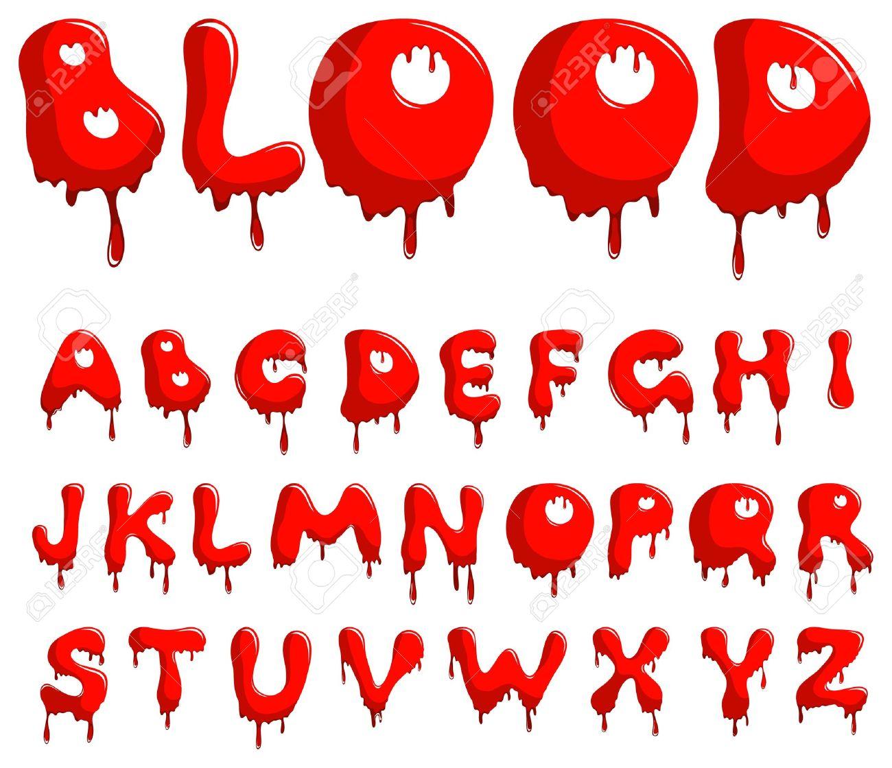 Blood alphabet Stock Vector - 10712221