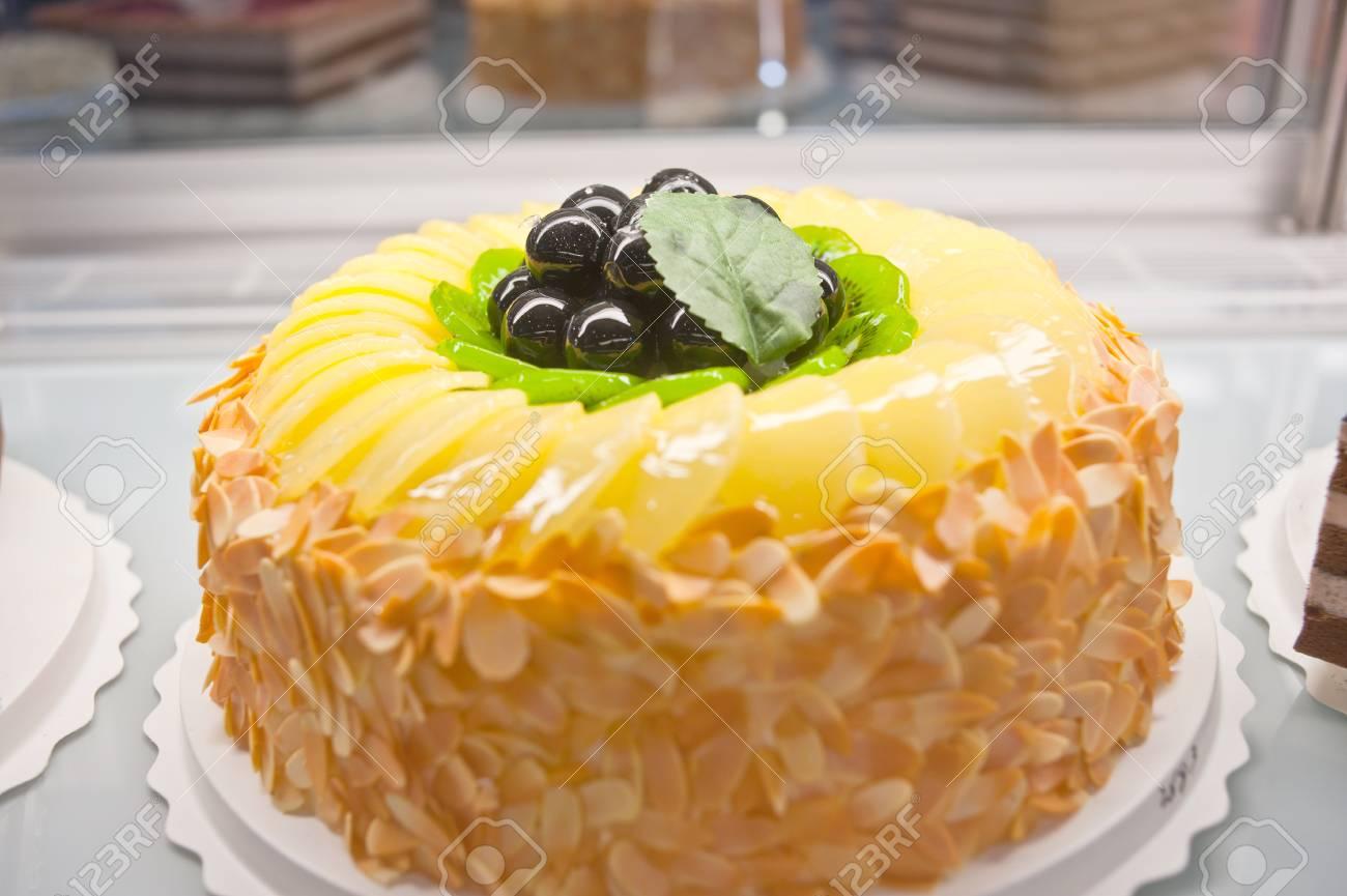 Birthday Cakes Pastries Design Stock Photo