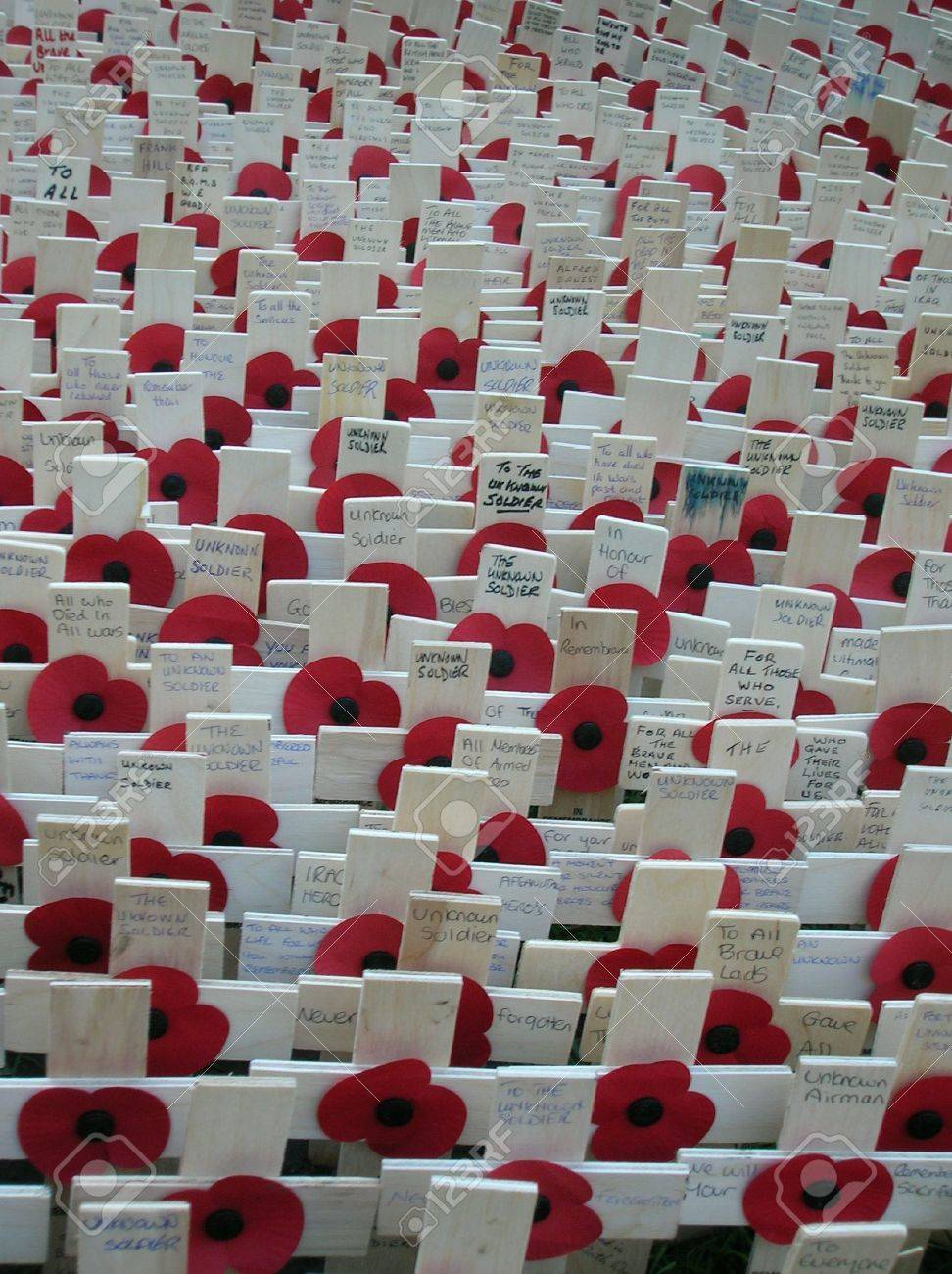 Memorial outside London's Westminster Abbey for Remembrance Day. Stock Photo - 666748