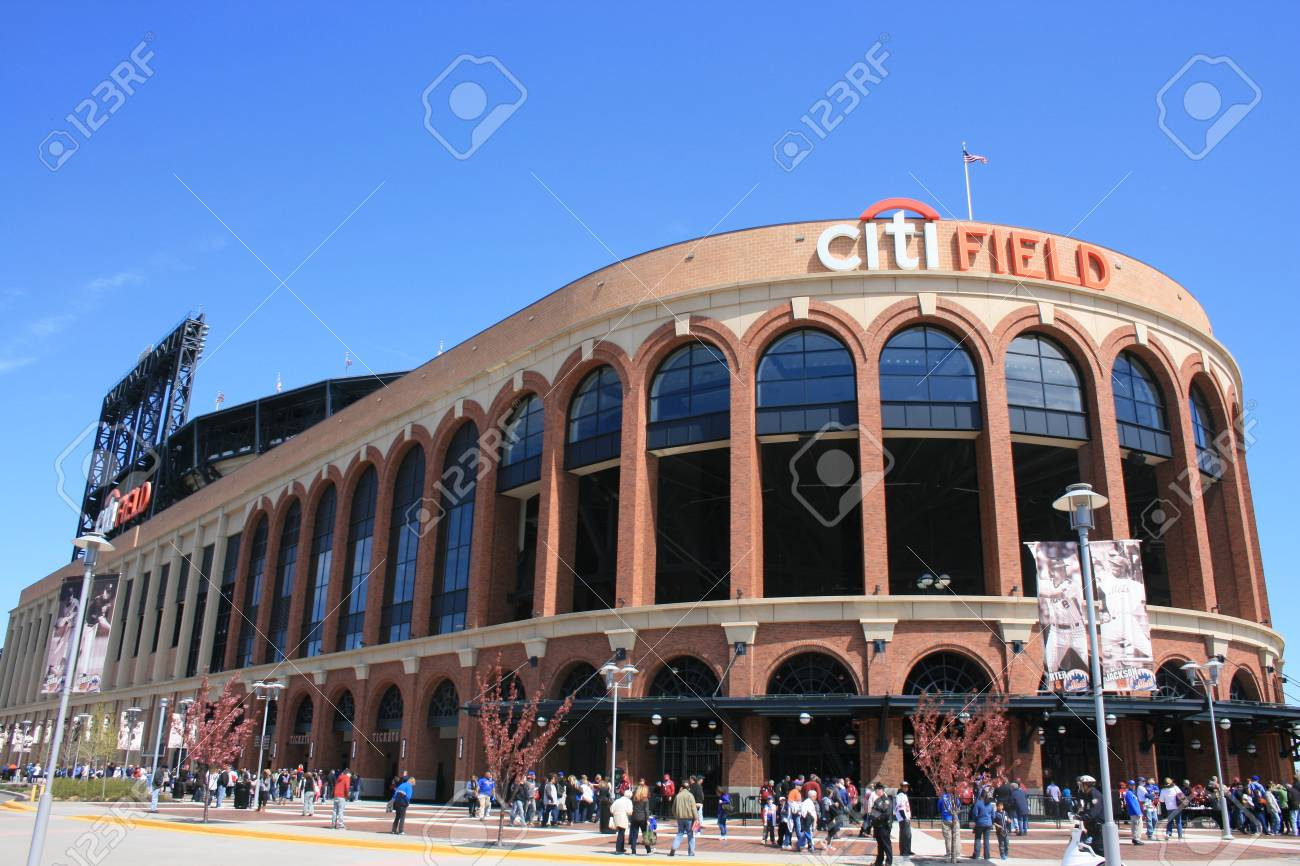 New York City, USA - April 8, 2012 - Crowd gathering before a Major League Baseball game at Citi Field. Stock Photo - 13096196