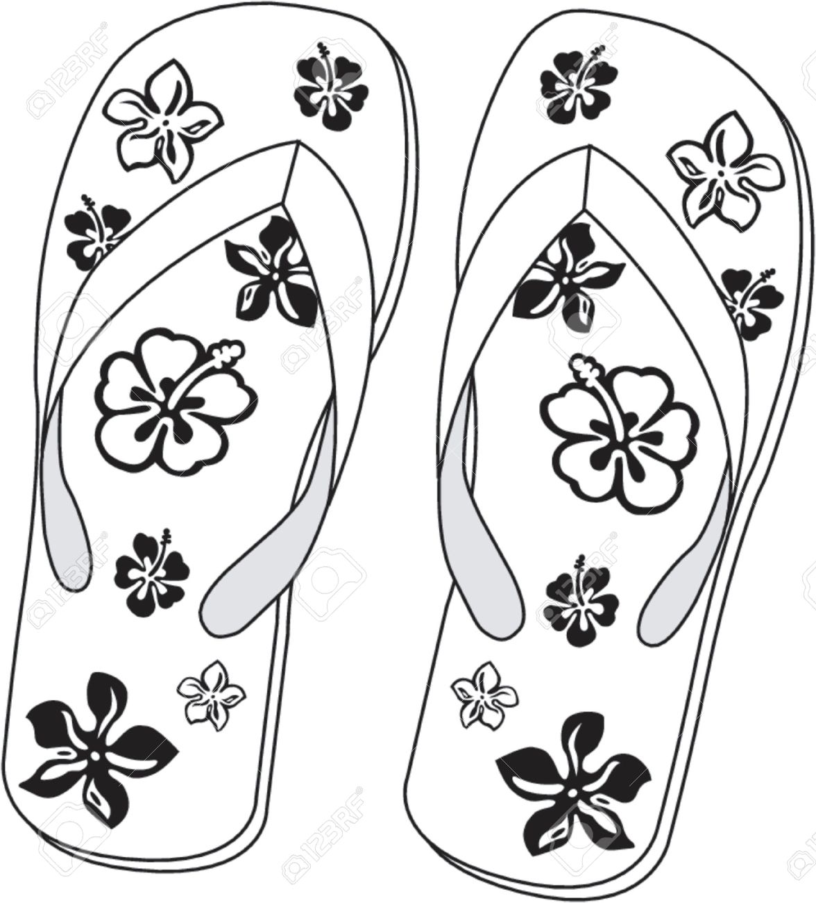 Pair Of Beach Sandals Stock Vector