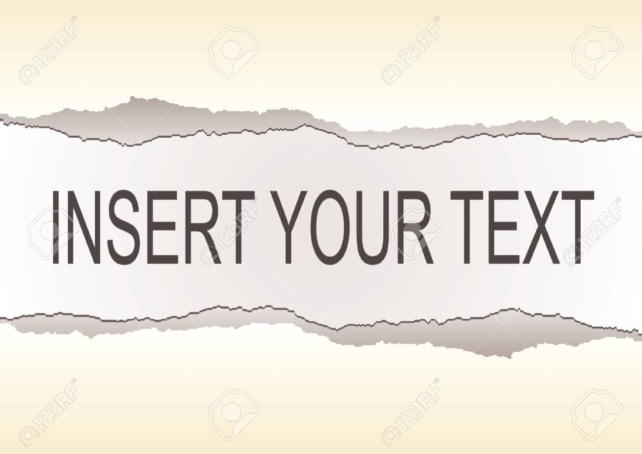 Yellow ripped sheet paper with space to insert your text Stock Vector - 658575