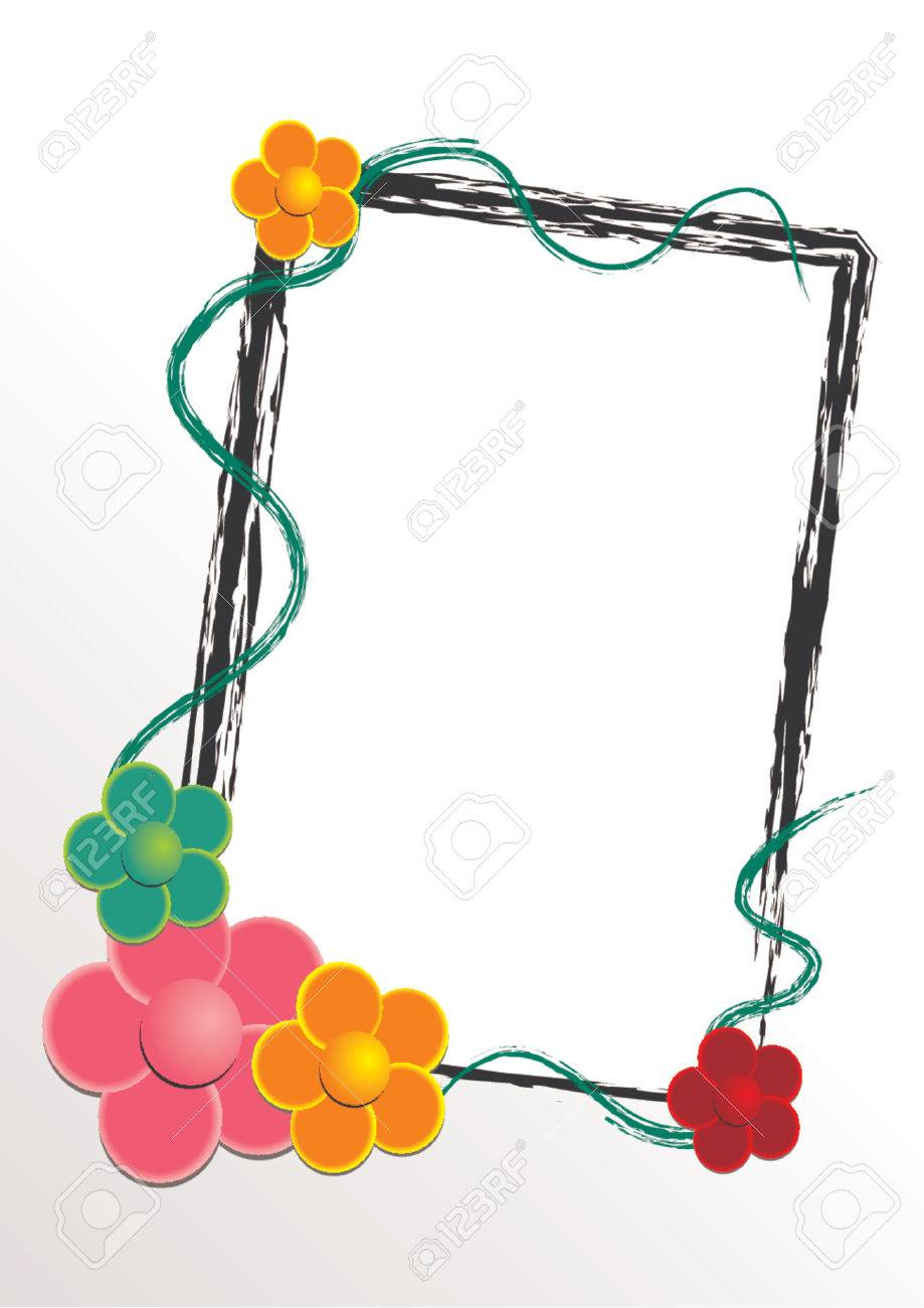 Vectorial flower pattern with frame Stock Vector - 670701